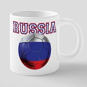 Russian Football 20 oz Ceramic Mega Mug