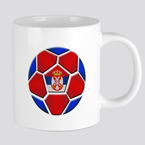 Serbia Soccer Football 20 oz Ceramic Mega Mug