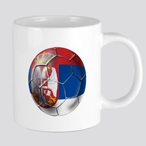 Serbian Football 20 oz Ceramic Mega Mug