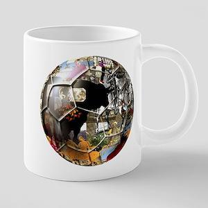 Spanish Culture Football 20 oz Ceramic Mega Mug