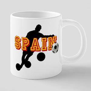 Spanish Football Player 20 oz Ceramic Mega Mug