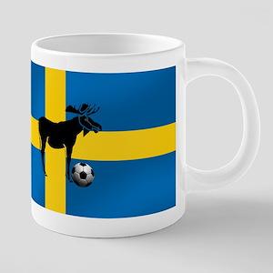Swedish Soccer Elk Flag 20 oz Ceramic Mega Mug