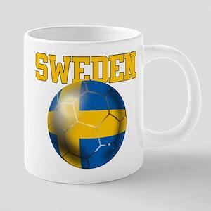 Sweden Football 20 oz Ceramic Mega Mug
