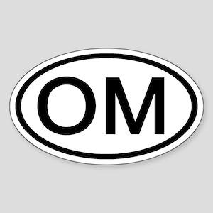 OM - Initial Oval Oval Sticker
