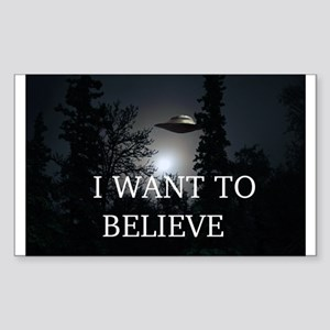 I Want to Believe Sticker (Rectangle)