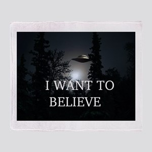 I Want to Believe Throw Blanket