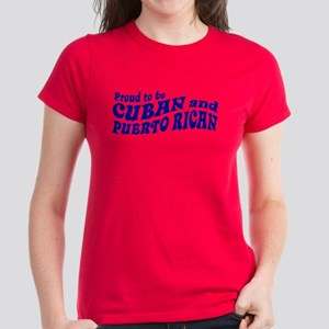 Cuban and Puerto Rican Women's Dark T-Shirt