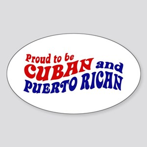 Cuban and Puerto Rican Sticker (Oval)