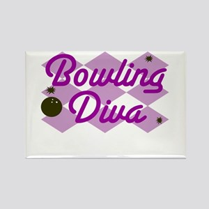 Bowling Diva Rectangle Magnet