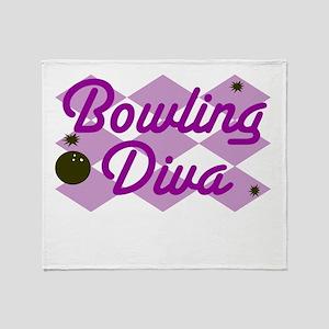 Bowling Diva Throw Blanket