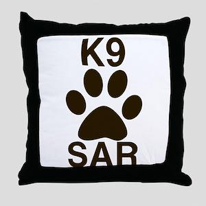 K9 SAR Throw Pillow