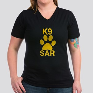 K9 SAR Women's V-Neck Dark T-Shirt
