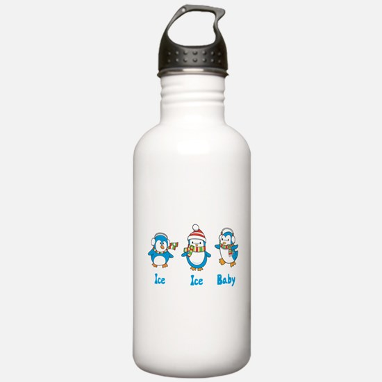 Ice Ice Baby Penguins Water Bottle