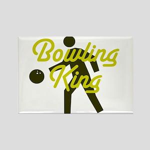 Bowling king Rectangle Magnet