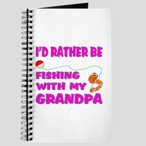 Fishing With Grandpa (Pink) Journal