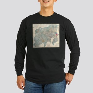 Vintage Map of Tokyo and Mt. F Long Sleeve T-Shirt