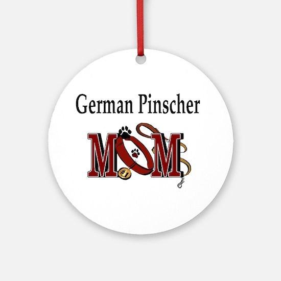 German Pinscher Mom Ornament (Round)