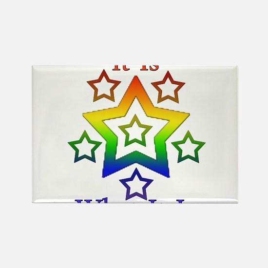 Cute Shit rainbows Rectangle Magnet