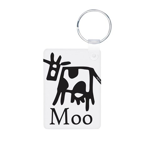 Moo Aluminum Photo Keychain