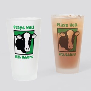Plays Well With Udders Pint Glass