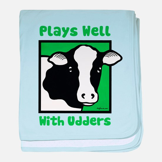 Plays Well With Udders baby blanket