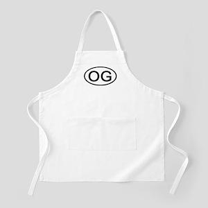 OG - Initial Oval BBQ Apron
