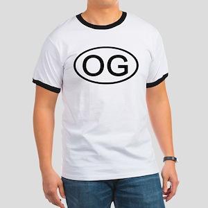 OG - Initial Oval Ringer T