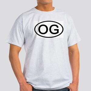 OG - Initial Oval Ash Grey T-Shirt