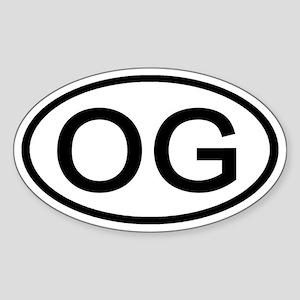 OG - Initial Oval Oval Sticker