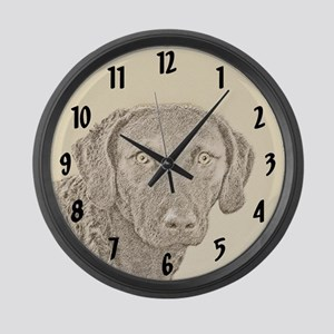 Chesapeake Bay Retriever Large Wall Clock