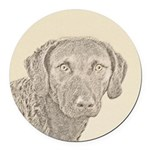 Chesapeake Bay Retriever Round Car Magnet