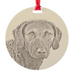 Chesapeake Bay Retriever Round Ornament