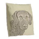 Chesapeake Bay Retriever Burlap Throw Pillow