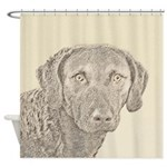 Chesapeake Bay Retriever Shower Curtain