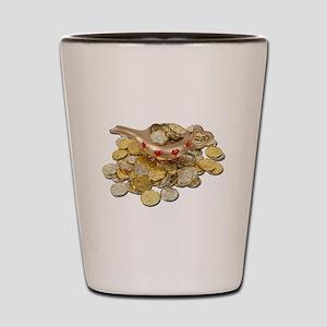 Magic Lamp Gold Coins Shot Glass