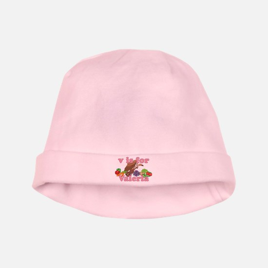 V is for Valeria baby hat