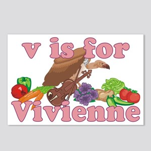 V is for Vivienne Postcards (Package of 8)
