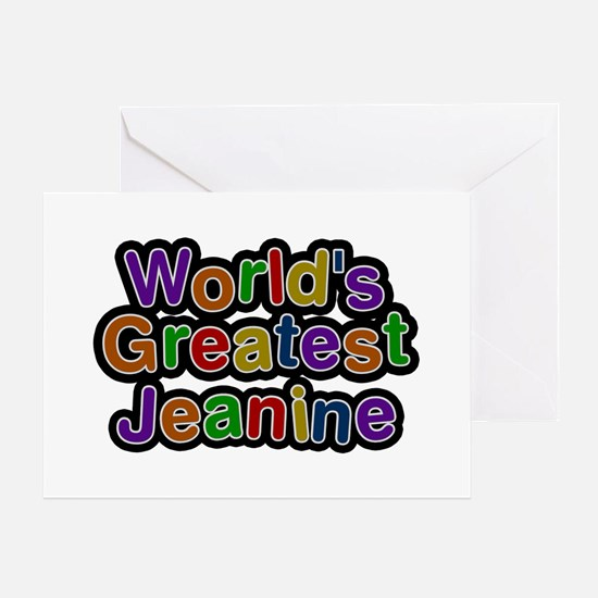 World's Greatest Jeanine Greeting Card