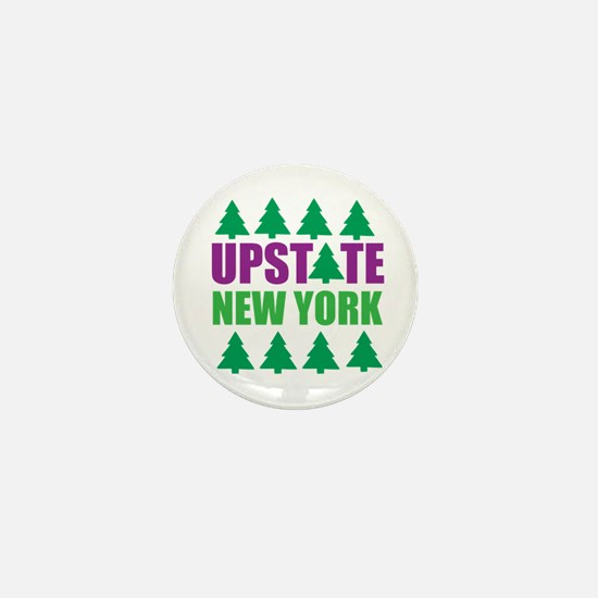 UPSTATE NEW YORK - PINE TREES Mini Button