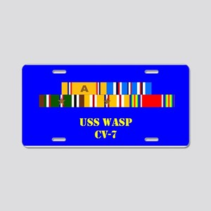 USS Wasp CV-7 Aluminum License Plate