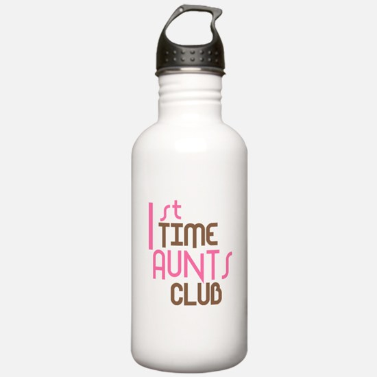 1st Time Aunts Club (Pink) Sports Water Bottle
