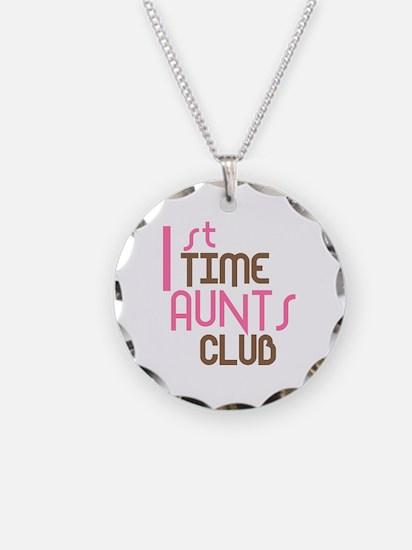 1st Time Aunts Club (Pink) Necklace