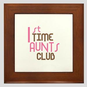 1st Time Aunts Club (Pink) Framed Tile