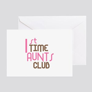 1st Time Aunts Club (Pink) Greeting Card