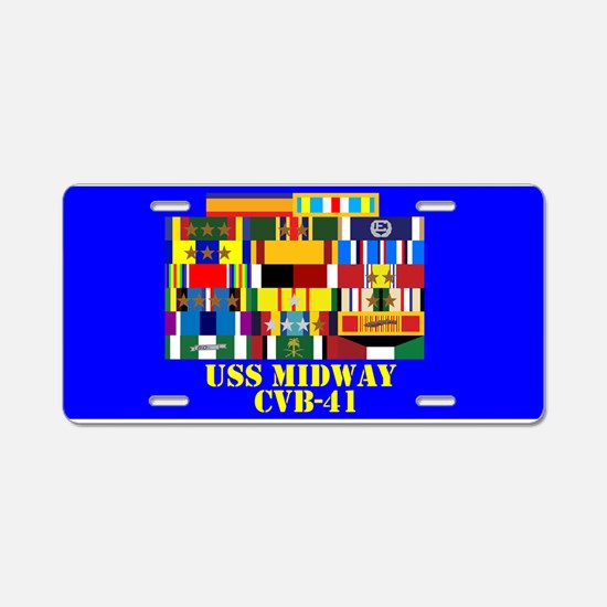USS Midway CVB-41 Aluminum License Plate