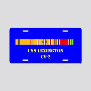 USS lexington CV-2 Aluminum License Plate