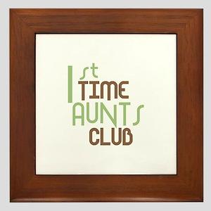 1st Time Aunts Club (Green) Framed Tile