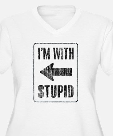 Vintage I'm With Stupid [l] T-Shirt