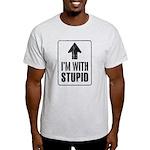 Vintage I'm With Stupid [u] Light T-Shirt