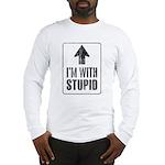 Vintage I'm With Stupid [u] Long Sleeve T-Shirt
